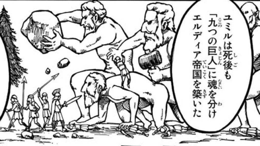 九つの巨人の図
